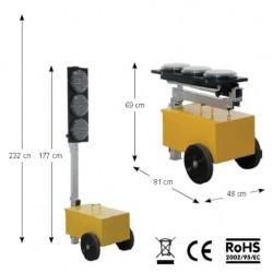 Impianto semaforico SISAS a led (richiudibile)